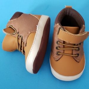 Tan Soft Bottom Baby Shoes
